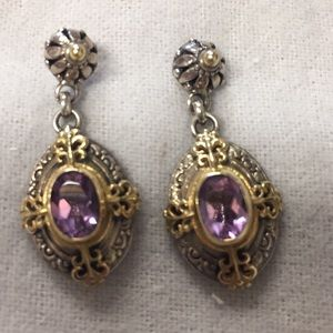 Konstantino Oval Amethyst Cyclades Earrings